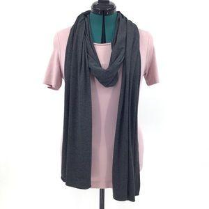 Chalet Grey and Black Striped Long Scarf, Medium